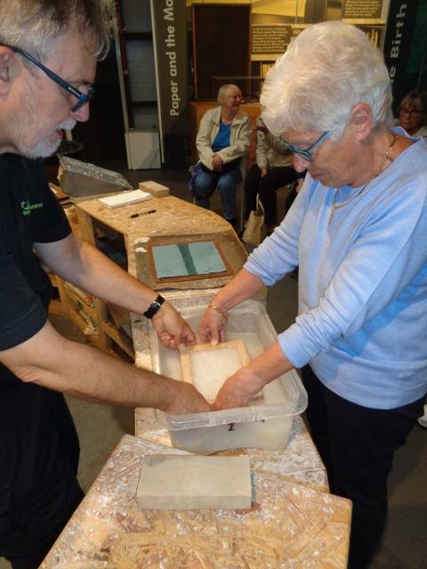 Member making paper